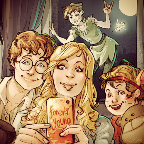 Wendy, John, Michael y Peter Pan, Peter Pan